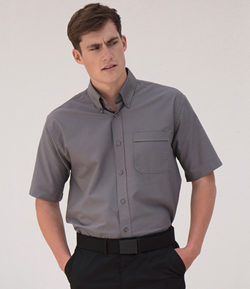 H515 - Henbury Short Sleeve Oxford